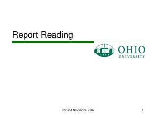 Report Reading