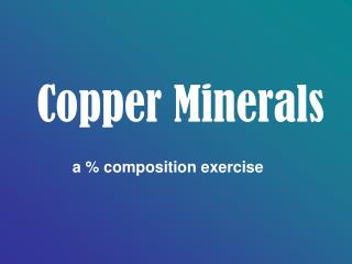Copper Minerals