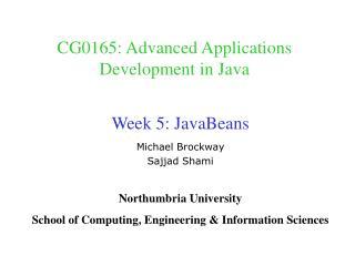 CG0165: Advanced Applications Development in Java