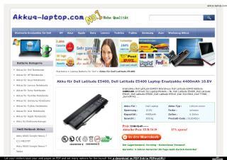 Akku für Dell Latitude E5400, Dell Latitude E5400 Laptop Ers