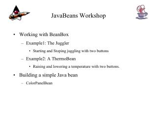 JavaBeans Workshop