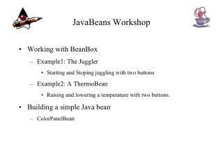 JavaBeans Workshop