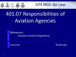 References : 	Canadian Aviation Regulations