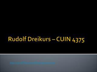 Rudolf Dreikurs – CUIN 4375
