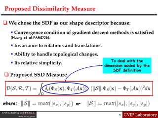 Proposed Dissimilarity Measure