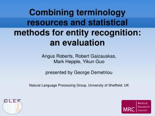 Combining terminology resources and statistical methods for entity recognition: an evaluation