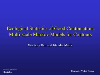Ecological Statistics of Good Continuation: Multi-scale Markov Models for Contours