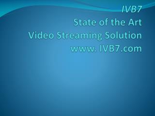 Live Internet Webcasting