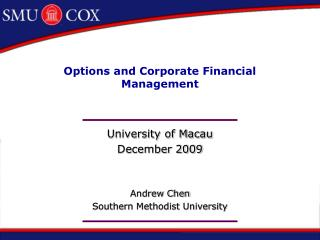 Options and Corporate Financial Management
