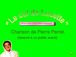 Chanson de Pierre  Perret .