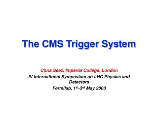 The CMS Trigger System