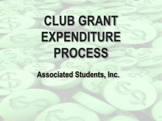 Club Grant Expenditure Process