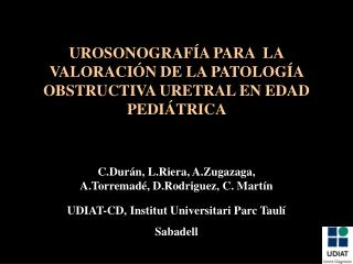 UDIAT-CD, Institut Universitari Parc Taulí  Sabadell