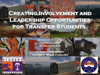 Creating Involvement and Leadership Opportunities for Transfer Students.