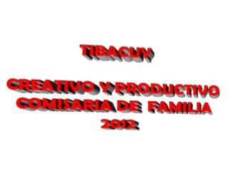 TIBACUY  CREATIVO Y PRODUCTIVO COMISARIA DE  FAMILIA 2012