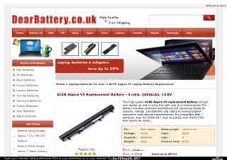 ACER Aspire V5 Laptop Battery