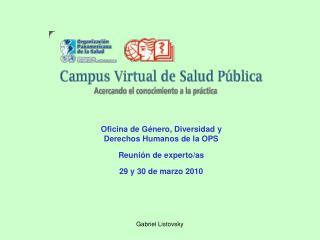 Oficina de Género, Diversidad y Derechos Humanos de la OPS Reunión de experto/as