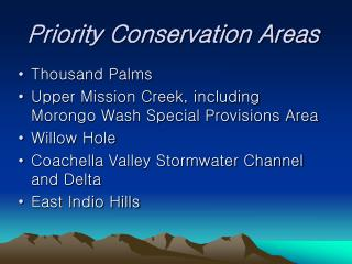 Priority Conservation Areas