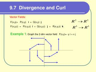 9.7  Divergence and Curl
