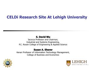 CELDi Research Site At Lehigh University