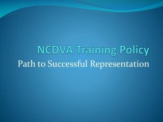 NCDVA Training Policy