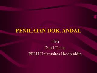 PENILAIAN DOK. ANDAL