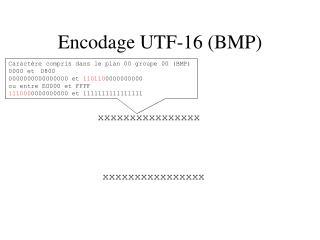 Encodage UTF-16 (BMP)