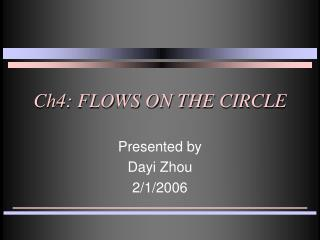 Ch4: FLOWS ON THE CIRCLE