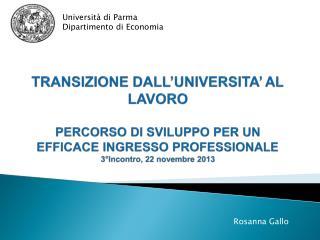 Università di Parma Dipartimento di Economia