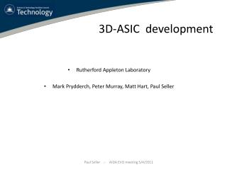 3D-ASIC  development