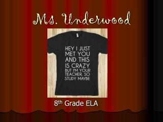 Ms. Underwood