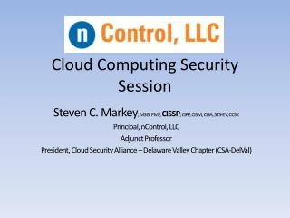Cloud Computing Security Session