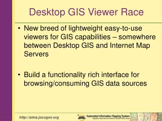 Desktop GIS Viewer Race