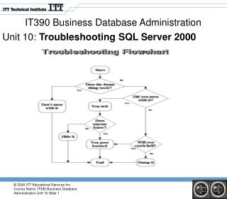 IT390 Business Database Administration