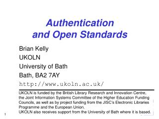 Authentication and Open Standards