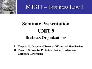 MT311 – Business Law I
