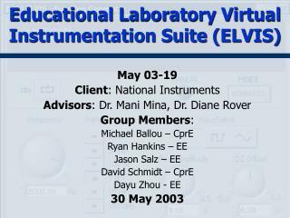 Educational Laboratory Virtual Instrumentation Suite (ELVIS)