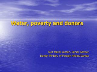 Water, poverty and donors