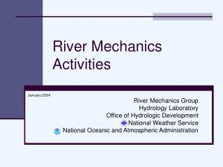 River Mechanics Activities