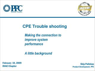 CPE Trouble shooting