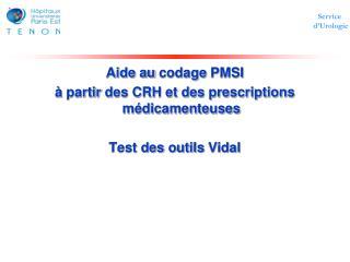 Aide au  codage  PMSI à partir  des CRH et des prescriptions  médicamenteuses