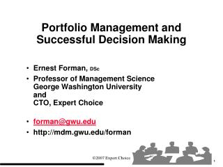 Portfolio Management and Successful Decision Making