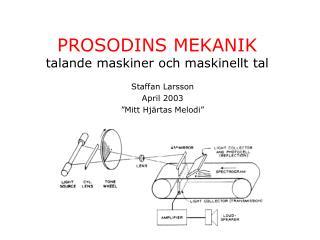 PROSODINS MEKANIK talande maskiner och maskinellt tal