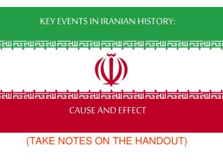 KEY EVENTS IN IRANIAN HISTORY: CAUSE AND EFFECT