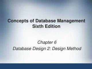 Concepts of Database Management Sixth Edition