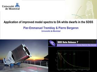 Application of improved model spectra to DA white dwarfs in the SDSS