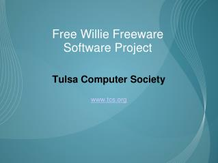 Free Willie Freeware  Software Project