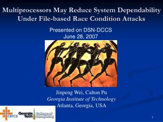 Multiprocessors May Reduce System Dependability Under File-based Race Condition Attacks