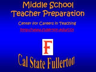 Middle School Teacher Preparation