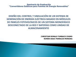 """Seminario de Graduación  """"Convertidores Estáticos para Fuentes de Energía Renovables"""""""